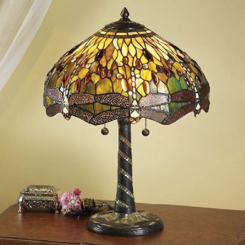 Green Dragonfly Large Table Lamp  TP1 light (Tiffany style)